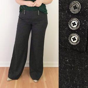 WHBM Legacy Wide Leg Dress Pants Sailor Gray X1056
